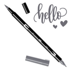 Marcador Acuarelable Doble Punta Tombow Dual Brush Pen - Gris Frio 7 N55