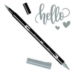 Marcador Acuarelable Doble Punta Tombow Dual Brush Pen - Gris Frio 8 N52