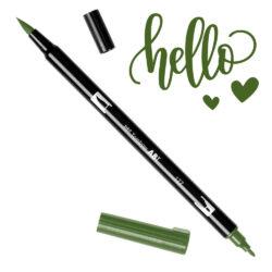 Marcador Acuarelable Doble Punta Tombow Dual Brush Pen - Jade Oscuro 177