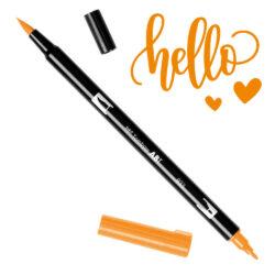 Marcador Acuarelable Doble Punta Tombow Dual Brush Pen - Naranja 933