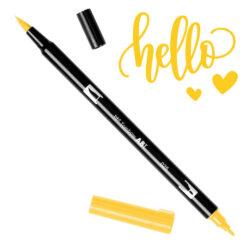 Marcador Acuarelable Doble Punta Tombow Dual Brush Pen - Naranja Claro 025