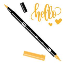 Marcador Acuarelable Doble Punta Tombow Dual Brush Pen - Naranja Cromo 993
