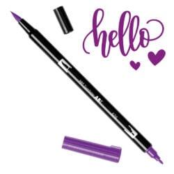 Marcador Acuarelable Doble Punta Tombow Dual Brush Pen - Purpura Real 676