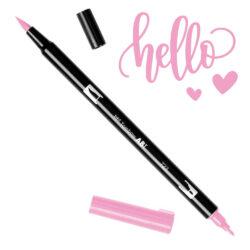 Marcador Acuarelable Doble Punta Tombow Dual Brush Pen - Rosa 723