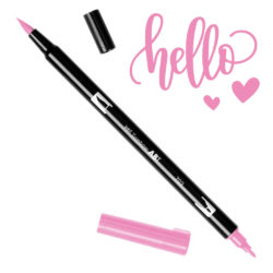 Marcador Acuarelable Doble Punta Tombow Dual Brush Pen - Rosa Flor 703