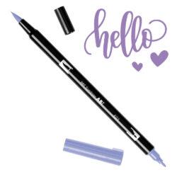 Marcador Acuarelable Doble Punta Tombow Dual Brush Pen - Salvia Purpura 623