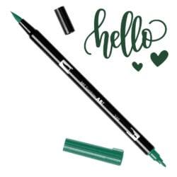 Marcador Acuarelable Doble Punta Tombow Dual Brush Pen - Verde Cazador 249