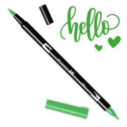 Marcador Acuarelable Doble Punta Tombow Dual Brush Pen - Verde Claro 195