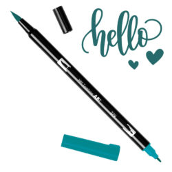 Marcador Acuarelable Doble Punta Tombow Dual Brush Pen - Verde Jade 379