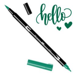 Marcador Acuarelable Doble Punta Tombow Dual Brush Pen - Verde Oscuro 277