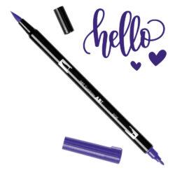 Marcador Acuarelable Doble Punta Tombow Dual Brush Pen - Violeta 606