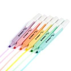 Resaltadores STABILO Swing Cool Pastel Vista Colores