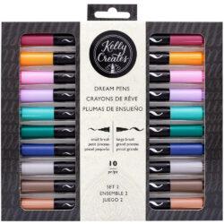Set 10 Plumas de Ensueño Doble Punta Pincel Kelly Creates »Pradera«