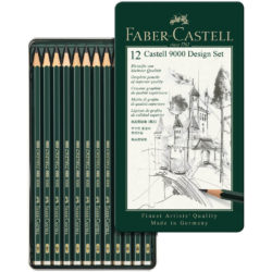 Set 12 Lápices de Dibujo Castell 9000 Faber-Castell Design (5B-5H) Principal