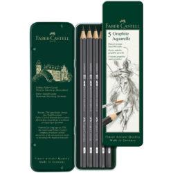 Set 5 Lápices de Grafito Acuarelables Faber-Castell Vista