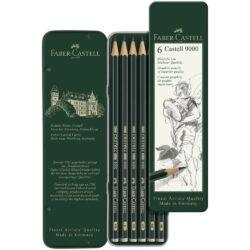 Set 6 Lápices de Dibujo Castell 9000 Faber-Castell Vista