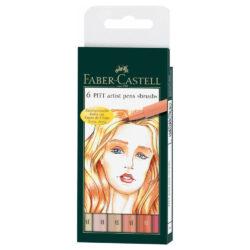 Set 6 Marcadores Punta Pincel Faber Castell PITT Artist Brush Tonos Piel