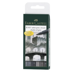 Set 6 Marcadores Punta Pincel Faber Castell PITT Artist Brush Tonos de Gris