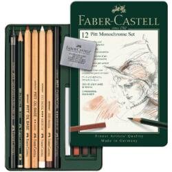 Set de Dibujo de 12 Piezas PITT Monochrome Faber-Castell Interior