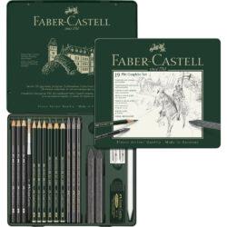 Set de Dibujo de 19 Piezas PITT Grafito Faber-Castell Vista
