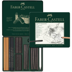 Set de Dibujo de 24 Piezas PITT Carboncillos Charcoal Faber-Castell Interior