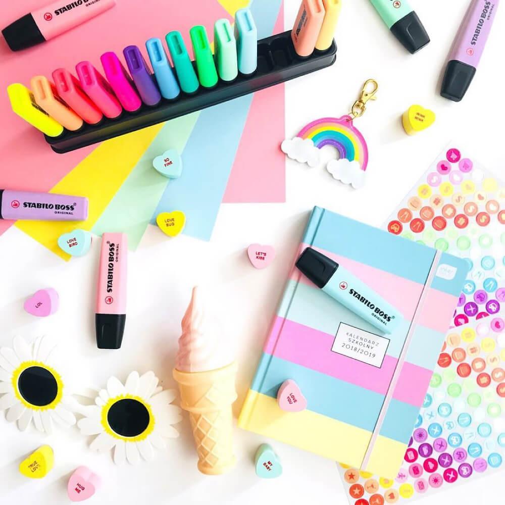 Set de Escritorio 15 Colores Surtidos Resaltadores STABILO BOSS Edición Limitada Pastel