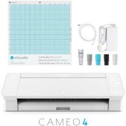 Máquina de Corte Silhouette CAMEO® 4 con Bluetooth, Tapete de Corte y AutoBlade 2 - Blanca