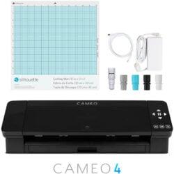 Máquina de Corte Silhouette CAMEO® 4 con Bluetooth, Tapete de Corte y AutoBlade 2 - Negra