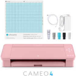 Máquina de Corte Silhouette CAMEO® 4 con Bluetooth, Tapete de Corte y AutoBlade 2 - Rosa