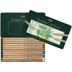 Set 12 Lápices Tiza Pastel Artistas Calidad Profesional Faber-Castell PITT Pastel