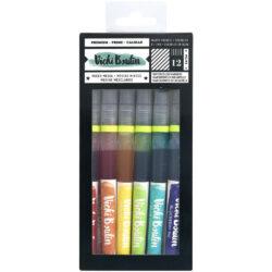 Set 12 Pinceles con Tinta Acuarelable Multicolor Vicki Boutin