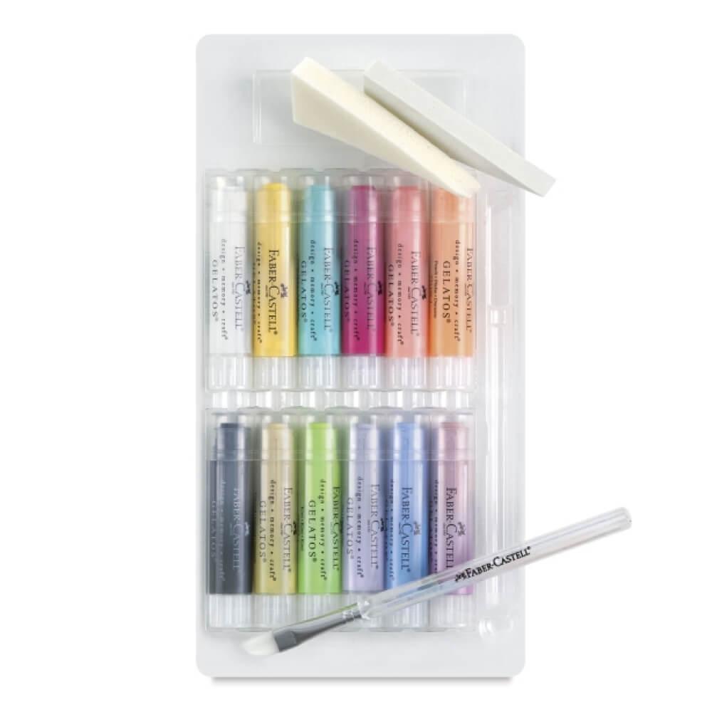 Set 15 Gelatos Faber-Castell Mix & Match Colores Pastel Vista