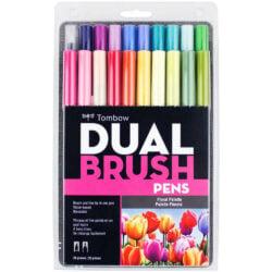 Set 20 Marcadores Acuarelables Doble Punta Tombow Dual Brush Pens Paleta Floral