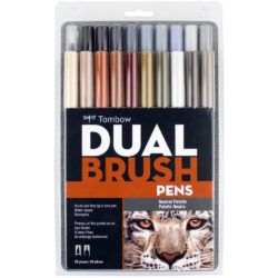 Set 20 Marcadores Acuarelables Doble Punta Tombow Dual Brush Pens Paleta Neutral