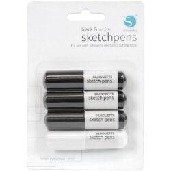 Set 4 Sketch Pens para Silhouette CAMEO® 4 - Blanco & Negro