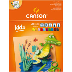 Bloc de Cartulina de Colores CANSON con 10 Hojas de 120 g Tamaño 24 x 32 cmBloc de Cartulina de Colores CANSON con 10 Hojas de 120 g Tamaño 24 x 32 cm