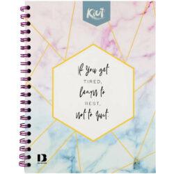 Cuaderno Anillado Carta con 100 Hojas Kiut -Don't Quit-