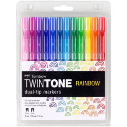 Set 12 Rotuladores Acuarelables Doble Punta Tombow Twintone Rainbow