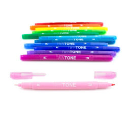 Set 12 Rotuladores Acuarelables Doble Punta Tombow Twintone Rainbow Vista