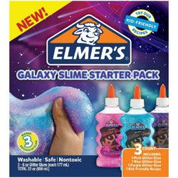 Kit Inicial para Crear Slime Colores Galaxia Elmer's