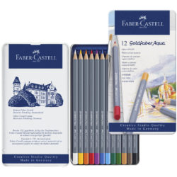 Set 12 Lápices de Color Acuarelables Faber-Castell Goldfaber Aqua Vista
