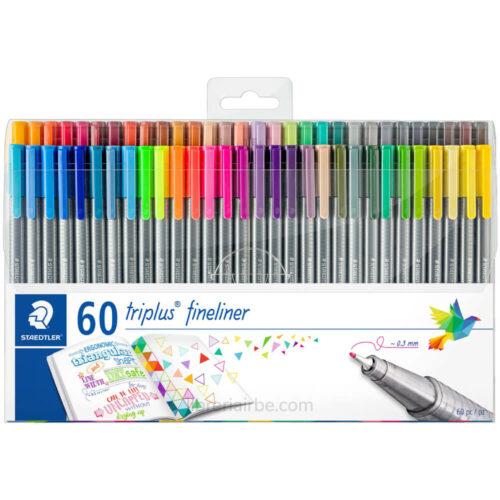 Set 60 Micropuntas Acuarelables STAEDTLER Triplus Fineliner