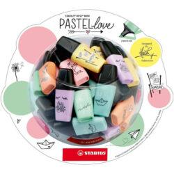 Bombonera con 50 Resaltadores STABILO BOSS Mini Pastel Love Edición Limitada