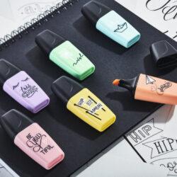 Set 6 Resaltadores STABILO BOSS Mini Pastel Love Edición Limitada Cerca