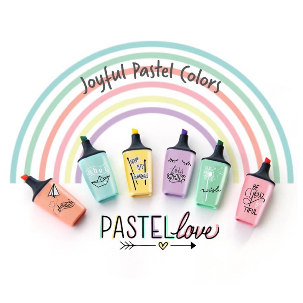 Set 6 Resaltadores STABILO BOSS Mini Pastel Love Edición Limitada Joyful