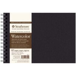 Art Journal Anillado Tapa Dura con Papel para Acuarela Strathmore Serie 400 (20.3 x 14 cm)