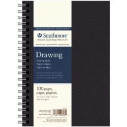 Art Journal Anillado Tapa Dura con Papel para Dibujo Strathmore Serie 400 (17.8 x 25.4 cm)