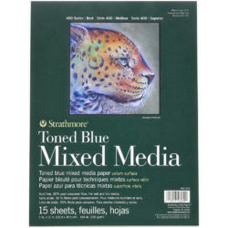 Block de Papel Mixed Media Tono Azul Strathmore Serie 400 (22.9 x 30.5 cm)