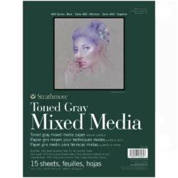 Block de Papel Mixed Media Tono Gris Strathmore Serie 400 (22.9 x 30.5 cm)