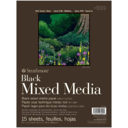 Block de Papel Negro Mixed Media Strathmore Serie 400 (22.9 x 30.5 cm)